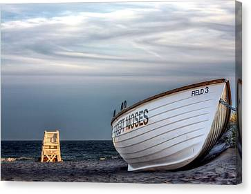 Rowboat Canvas Print - Lifeguards Only by JC Findley