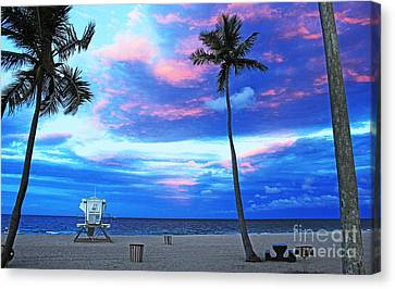 Life's A Beach Canvas Print by Alison Tomich