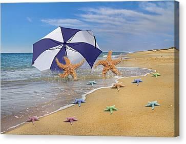 Life's A Beach Canvas Print by Betsy Knapp