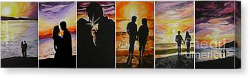 Canvas Print featuring the painting Life's A Beach by Tamir Barkan