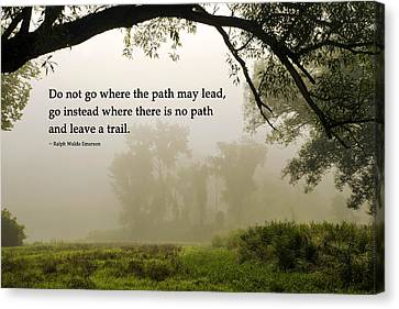 Life's Path Inspirational Art Canvas Print