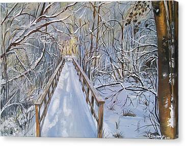 Life's  Path Canvas Print by Sharon Duguay
