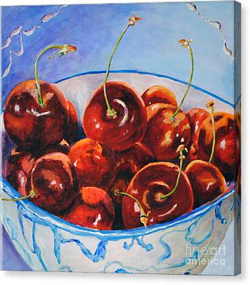 Life's S Bowl Of Cherries Canvas Print