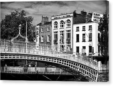 Dublin Building Colors Canvas Print - Liffey Bridge by John Rizzuto