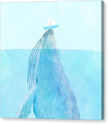 Whale Canvas Print - Lift by Eric Fan