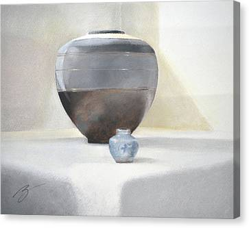 Light And Shadow Pastel Canvas Print by Ben Kotyuk