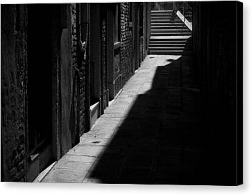 Canvas Print featuring the photograph Light And Shadow - Venice by Lisa Parrish