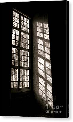 Old Windows Canvas Print - Light And Shadows by Olivier Le Queinec
