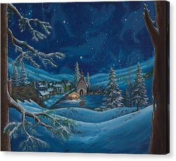 Light And The Darkest Night Canvas Print by Matt Konar