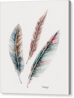 Canvas Print featuring the painting Light As A Feather by Rebecca Davis