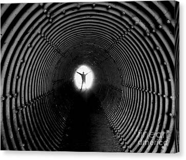 Light At The End Of The Tunnel? Canvas Print by C Lythgo