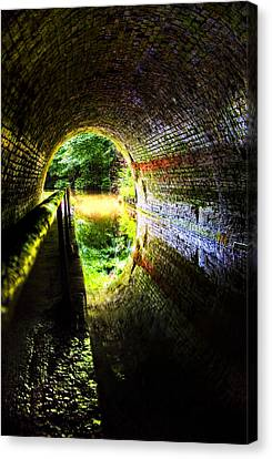 Canvas Print featuring the photograph Light At The End Of The Tunnel by Meirion Matthias