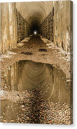 Canvas Print featuring the photograph Light At The End Of The Tunnel by Sue Smith