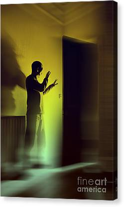 Canvas Print featuring the photograph Light Behind Door by Craig B