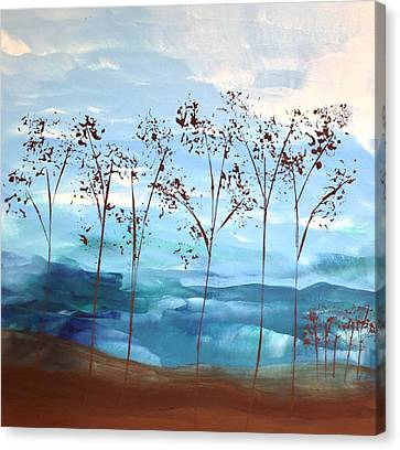 Canvas Print featuring the painting Light Breeze by Linda Bailey