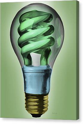 Power Canvas Print - Light Bulb by Bob Orsillo