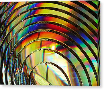 Light Color 2 Prism Rainbow Glass Abstract By Jan Marvin Studios Canvas Print