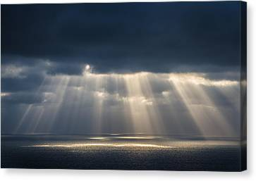 Light Dancing On Water Canvas Print by Alexander Kunz