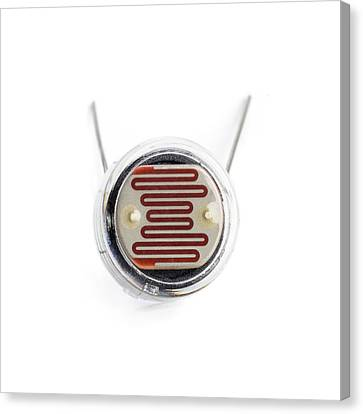 Resistor Canvas Print - Light Dependent Resistor by Science Photo Library