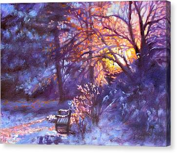 Light Dusting Canvas Print by Bonnie Mason