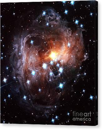 Light Echo Around Star V838 Monocerotis Canvas Print by Science Source