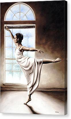 Figurative. Lady Canvas Print - Light Elegance by Richard Young