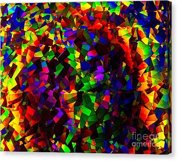 Light Emitting Diode Confetti Canvas Print by Imani  Morales