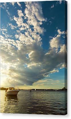 Light Fades On Lake Minnetonka Canvas Print by Bill Tiepelman