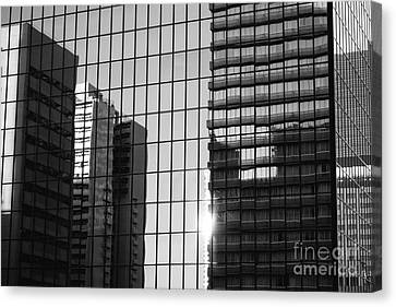 Light Fading In Downtown Tokyo Canvas Print by Dean Harte