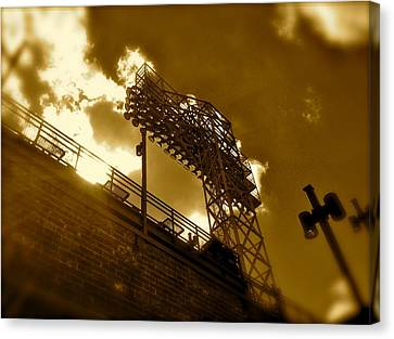 Light  Fenway Park Canvas Print by Iconic Images Art Gallery David Pucciarelli