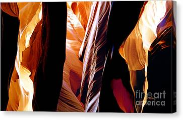 Slot Canyon - Light From Above 8 Canvas Print by Linda  Parker