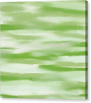 Light Green And White Canvas Print by Lourry Legarde