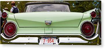 Canvas Print featuring the photograph Light Green Classic Car by Mick Flynn