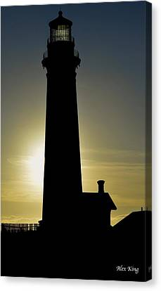 Canvas Print featuring the photograph Light House by Alex King