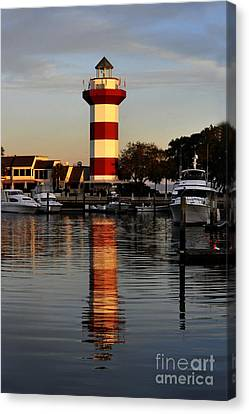 Light House At Harbour Town Canvas Print by Dan Friend