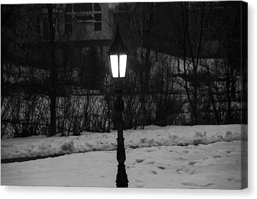 Light In Black And White Canvas Print by Gloria Pasko