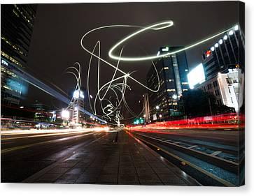 Light In Seoul Canvas Print by Yoo Seok Lee