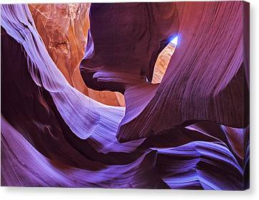 Light In The Canyon Canvas Print by Maico Presente