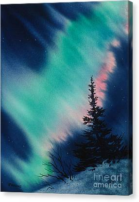 Light In The Dark Of Night Canvas Print by Teresa Ascone