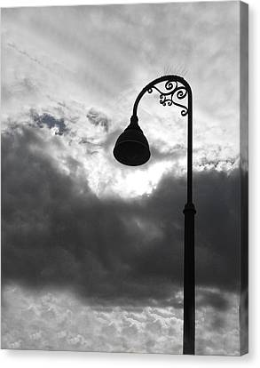 Lamp Post Canvas Print - Light In The Sky by Barbara Snyder