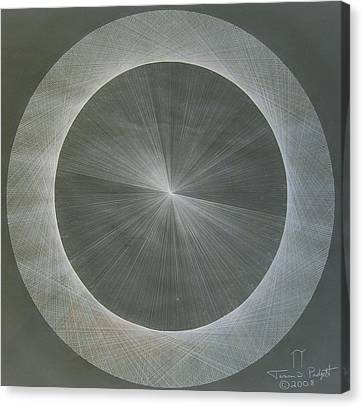 Sine Canvas Print - Light Is Pi  The Shape Of Pi by Jason Padgett