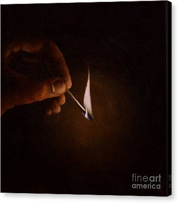 Canvas Print featuring the painting Light My Way V by Ric Nagualero
