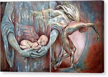 Light Of A Mortal Life Canvas Print by Karina Llergo