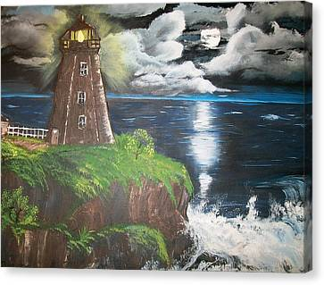 Canvas Print featuring the painting Light Of The Moon by Sharon Duguay