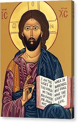 Jesus Christ Icon Canvas Print - Light Of The World by Munir Alawi