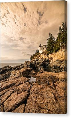 Light On The Rocks Canvas Print by Kristopher Schoenleber