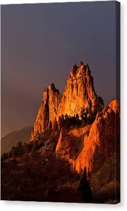 Canvas Print featuring the photograph Light On The Rocks by Ronda Kimbrow