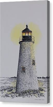 Light On The Sound Canvas Print by Tony Ruggiero
