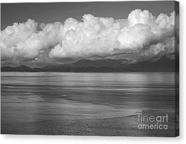 Canvas Print featuring the photograph Light Over The Salish Sea by Inge Riis McDonald