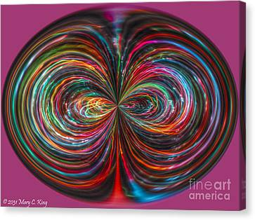 Mary King Canvas Print - Light Painting Orb by Mary  King